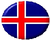 Icelandic flag button