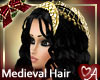 Black hair gold Headdress