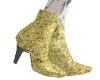Gold Glitter Heel Boots