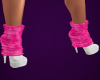 White Boots/Pink Socks