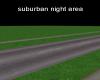 suburban night area