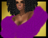 Diva Fur, Purple w/Gold