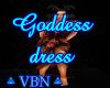 Goddess dress red dark