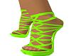 bright green summer heel