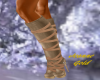 ;R; Jeanne Gold Boots