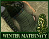 Winter Maternity Green