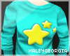 {HG} Cyan Star Sweater