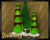 3 Green Holiday Trees