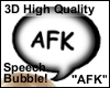 AFK Bubble Sign