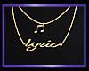 Bbg Lyric necklace ♫