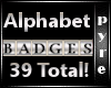 39 Alphabet Badges