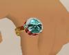 Teal Teardrop Ring