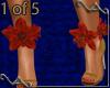 VA~ 1 Tiger Lily Anklet