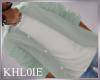 K sage n white shirt