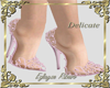 Delicate shoes lace pink