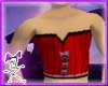 Short Male Corset - red