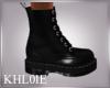 K black goth boots