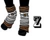 greek key leg warmers