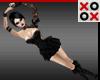 Black Lace & Latex Doll
