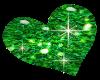 Glitter Green Heart
