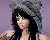 [M]Grey Fur Hat - Black