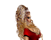 blonde purple curls