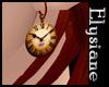 {E} Steampunk Clock Earr
