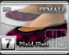 [BE] Pink Plaid|Flats F