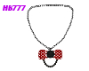 HB777 MinnieBow Necklace
