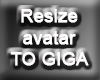Resize Avatar To GIGA