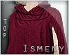 [Is] Fall Sweater Wine