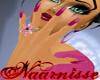 (NA) Fuchsia Long Nails