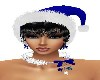 X-MAS BLUE HAT/BLACK