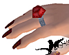N-Silver Garnet Ring: Lg