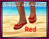 {CV} Red Flip Flops