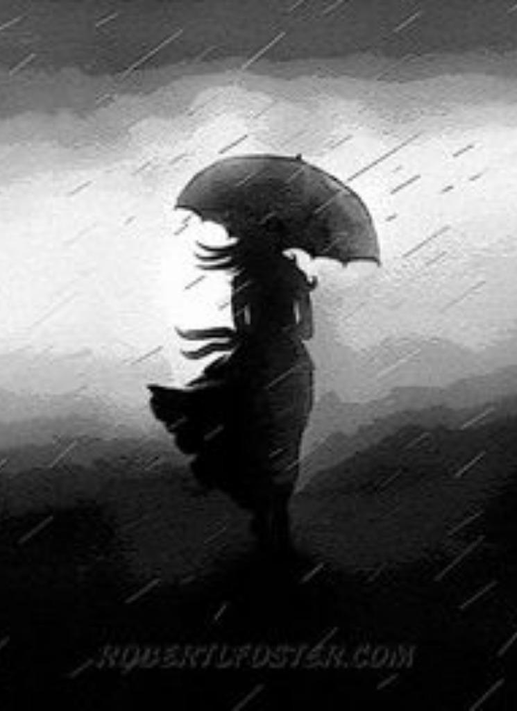 Sad Man Walking In Rain Drawing | www.pixshark.com ...