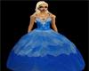 blue ball room dress