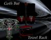*O* Goth Bat Towel Rack