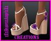 Purple Flower Sandles