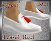 !b Tassel Shoe Wh/Red