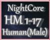 ♥ NightCore Human Male