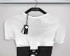 Tee w/ corset, bl.