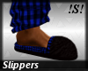!S!Mens Plaid Slippers