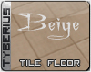 Beige tile floor