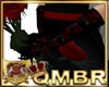QMBR Gloves Black Roses