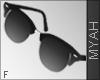 & Shiny Glasses Black