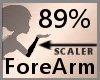 Scale ForeArm 89% F A