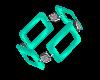 Aqua Quad Bracelets