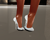 spring white sequin heel