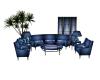 Blue Dragon/koi couch